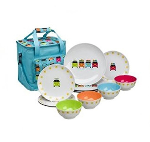 Camper Smiles 13 Piece Melamine Dinner Set
